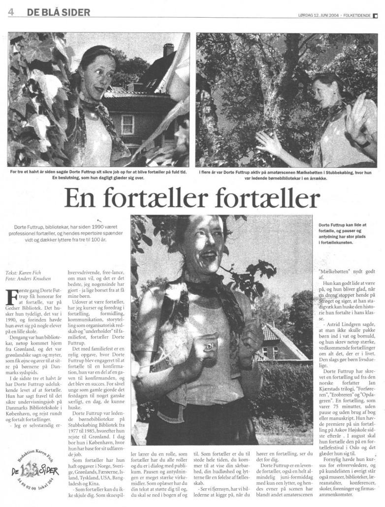 ea09d08db26 Presseklip – Dorte Futtrup – Fortællekunst