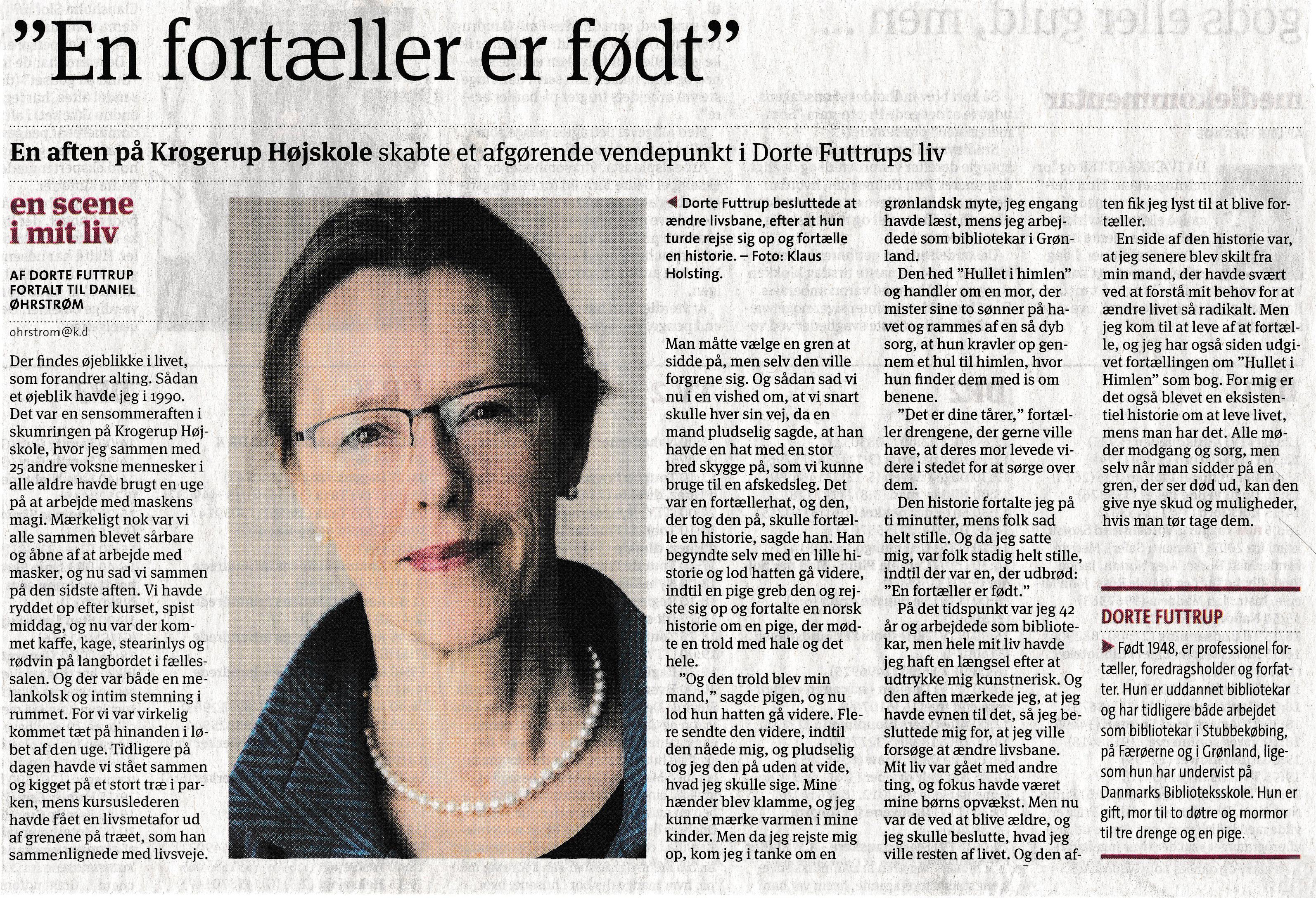 b4f39b79233 Interview – Dorte Futtrup – Fortællekunst